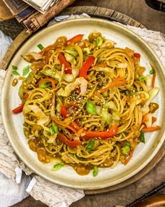 Easy, flavorful, and oil-free, this Asian Cabbage Noodle Stir Fry is packed with feel-good ingredients and ready in 30 minutes or less. #wholefoodplantbased #vegan #oilfree #glutenfree #plantbased | monkeyandmekitchenadventures.com