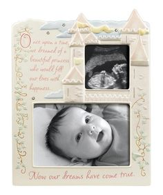 pink castle princess sonogram frame zulilyfinds