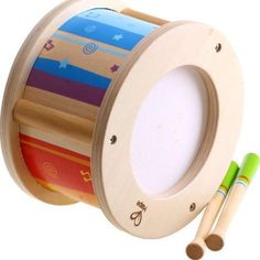 Hape Little Drummer Kid's Wooden Drum Music Set