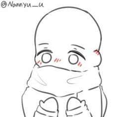 Cute shy girl wrapped in winter scarf