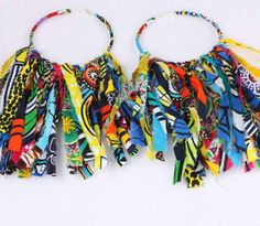 2018 African Cloth Fabric Earrings Handmade Earrings with Tassels for Women African Print Ankara Big Oversized Earrings Fabric Earrings, Tassel Drop Earrings, Tassel Jewelry, Fabric Jewelry, Fringe Earrings, Earrings Handmade, Women's Earrings, Handmade Jewelry, Statement Earrings