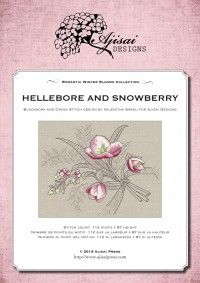 Cross Stitch and Blackwork Design: Hellebore and Snowberry | Ajisai Press