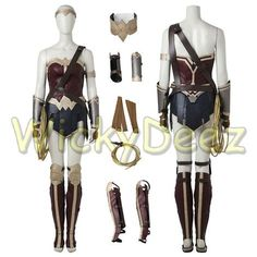 Custom Size Wonder Woman Justice League Cosplay Costume with Boots & Lasso