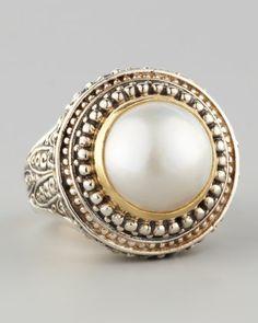 Mabe Pearl Dome Ring by Konstantino at Neiman Marcus. #mavatarwish