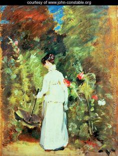 Mrs Constable in her Garden - John Constable - www.john-constable.org