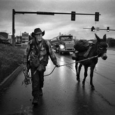mattabbottphoto On a recent trip to the US with @iloveasunburntcountry we travelled through the once booming Rust Belt, considered a deciding factor in the rise of Donald Trump. Excited to be scanning this new work.  Six months ago, 'Black' bought his donkey for $75. They have been on the move ever since: camping out on public land, surviving on donations and the good will of strangers. When asked where they are heading to, 'Black' says: 'Nowhere in particular.'