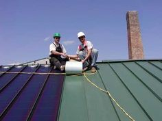 thin film PV solar panels on standing seam metal roof