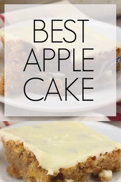 This really is the best apple cake. The kind of cake that you want to sneak nibbles from and know your diet is doomed if you keep it in the house, especially since your kids are at college and not home to save you from yourself. Moist Apple Cake, Easy Apple Cake, Apple Cake Recipes, Rhubarb Recipes, Apple Desserts, Easy Cake Recipes, Dessert Recipes, Carrot Cake, Healthy Apple Cake