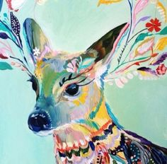THIS IS MY FAVORITE. The deer is brilliant! I love the use of the flowers and how it comes out in so many colors and shapes