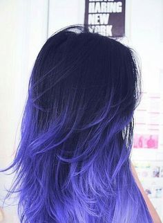 60 Best Ombre Hair Color Ideas for Blond, Brown, Red and Black Hair , Funky Hair Colors, Pretty Hair Color, Hair Color Purple, Hair Dye Colors, Hair Color For Black Hair, Blue Hair, Purple Ombre, Colorful Hair, Ombre Color