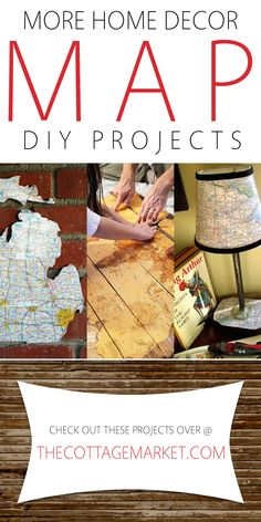 More Home Decor Map DIY Projects - The Cottage Market