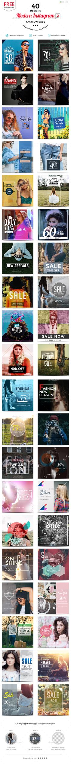 Fashion Sale Instagram Design(Vol-02)  - 40 Designs