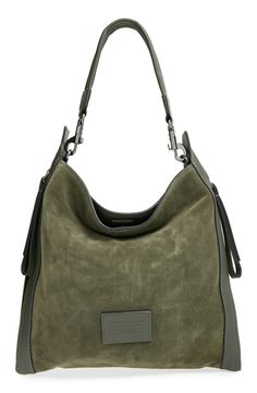 Loving the mossy green color of this rich suede Marc Jacobs handbag for fall.