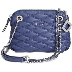 Dkny Lara Small Round Crossbody, Created for Macy's ($228) ❤ liked on Polyvore featuring bags, handbags, shoulder bags, iris, evening purses, blue cross body purse, blue purse, blue crossbody handbag and evening handbags