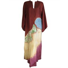 Halston Tie Dye Silk Caftan 1972   From a collection of rare vintage coats and outerwear at http://www.1stdibs.com/fashion/clothing/coats-outerwear/