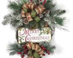Handmade original and unique wreaths for all by BlueBirdWreaths Decorating Your Home, Decorating Ideas, Decor Ideas, Christmas Décor, Christmas Crafts, Handmade Christmas Decorations, Holiday Decor, Christmas Wreaths For Front Door, Front Door Decor