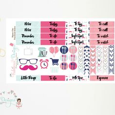 New Release - Hipster Chic functional stickers