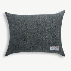 HARRIS TWEED THISTLES Quality Scottish Bolster CUSHION  Burgundy Herringbone