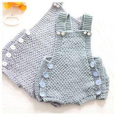 Kjappstrikka Drakt: Quick Knit Suit by Paelas Paelas ~ DK ~ newborn to 12 mos ~ English and Norwegian