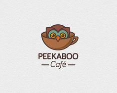 Peekaboo Café - brilliant no? #logo #design