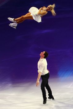 Aliona Savchenko and Bruno Massot of Germany perform during the Exhibition of Champions on Day 7 of the ISU World Figure Skating Championships 2016 at TD Garden on April 2016 in Boston, Massachusetts. Pairs Figure Skating, Figure Ice Skates, Qi Gong, Ice Skating Beginner, Aliona Savchenko, Golf Tips Driving, World Figure Skating Championships, Ice Skaters, Ice Dance