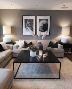 Keep up to date with the latest small living room decor ideas (chic & modern). Find good ways to get stylish design even if you have a small living room. Cozy Living Rooms, Living Room Grey, Apartment Living, Home And Living, Modern Living, Cozy Apartment, Minimalist Living, Apartment Furniture, Modern Minimalist