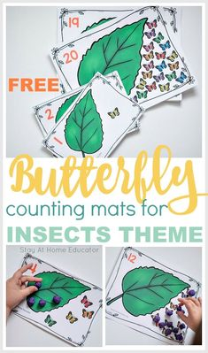 teach preschoolers correspondence and teen numbers with these butterfly lifecycle counting cards free printable Bug Activities, Preschool Learning Activities, Free Preschool, Preschool Themes, Preschool Printables, Preschool Lessons, Free Printables, Preschool Crafts, Kindergarten Math