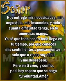 Night Quotes, Morning Quotes, Papa Francisco Frases, Spanish Prayers, Good Night Blessings, Morning Prayers, Catholic Prayers, God Loves You, My Lord