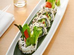 Iron Chef Masaharu Morimoto shows Food Network Magazine how to make vegetable sushi.