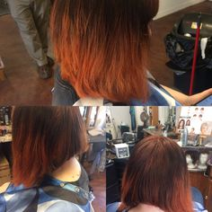 Copper color melt #socolor # matrix