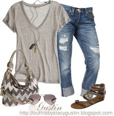 capri jeans, created by stacy-gustin on Polyvore