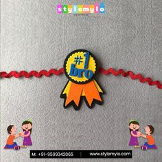 Let your little ones nurture the Environment with our special PLANTABLE Rakhi and HANDMADE Rakhi available at Stylemylo! Let this Rakhi not only be about Raksha for the sister but also Raksha for the Environment! Diy Crafts For Gifts, Fun Crafts For Kids, Preschool Crafts, Felt Crafts, Handmade Crafts, Paper Crafts, Easy Handmade Gifts, Quilling Rakhi, Handmade Rakhi Designs
