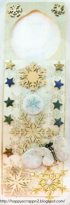 3rd Eye Design team - Door hanger - Scrapbook.com Eye Products, 3rd Eye, Door Hangers, Altered Art, Snowflakes, My Design, Scrapbook, Doors, Eyes