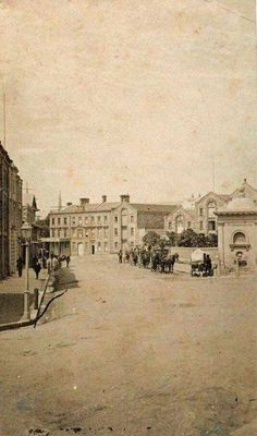 Macquarie Place in Sydney in 1869-74. •State Library of NSW•
