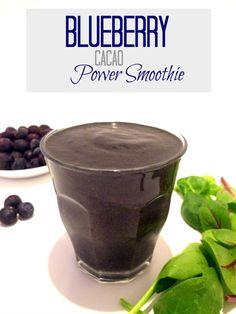 Blueberry Cacao Power Smoothie   Hummusapien