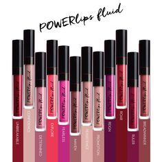 Picking my next shade. PowerLips Fluid is a durable and waterproof lip colour that lasts. Kiss Proof Lipstick, Liquid Lipstick, Makeup Lipstick, Nu Skin, Reign, Lip Plumping Balm, Lip Shine, Lip Colour, Lipstick Colors