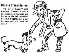 Dachshund Cartoon 1905 - From The Chicago Daily Tribune, February 12th by verylegalmuffin, via Flickr