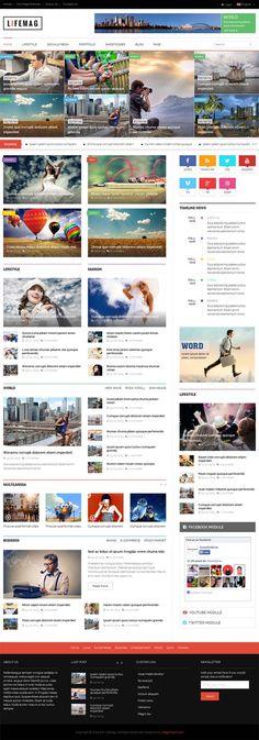 LifeMag – Responsive Magazine WordPress Theme #responsivewordpressthemes #html5css3 #parallaxscrolling #wordpressthemes