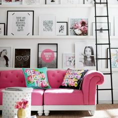 Best Scandinavian Home Design Ideas. The Best of home decor ideas in - Interior Design Fans Room Inspiration, Interior Inspiration, Living Room Decor, Living Spaces, Cute Living Room, Bedroom Decor, Pink Sofa, Home And Deco, New Room