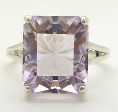 6 Carat Rose de France Amethyst Gemstone Ring Size by ExcessDesign, $125.00