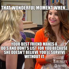 "S2 Ep11 ""Young & How Gabi Got Her Job Back"" - Everyone needs a best friend like Sofia! #YoungAndHungry"