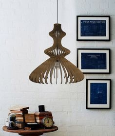 wood pendant light - handmade ceiling hanging light - modern lamp - design art decor #DEZAART #Contemporary #pendantlight #pendantlighting #chandelier #art #design #decor #modern #wood
