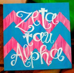 Zeta Tau Alpha canvas- love this design for an AXiD craft