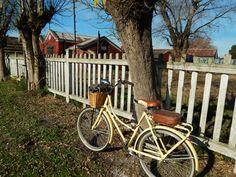 Mi bici en la estación de tren de Tandil