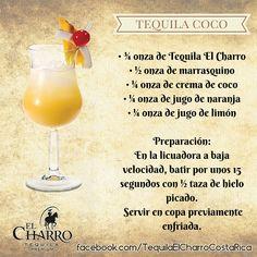 Tequila Coco, con Tequila El Charro #TequilaElCharro #Tequila #Coctel #Cocktail #TequilaCoco
