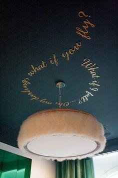 Feather light fixture DIY http://karapaslaydesigns.com/diy-feather-fringe-chandelier/