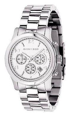 faabdc05eebc Michael Kors Runway MK5076 Chronograph Unisex Silver Stainless Steel Watch  691464204662