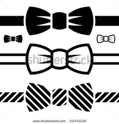 Vector de símbolos de corbata negro