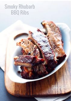Low Unwanted Fat Cooking For Weightloss Sugar Free Smoky Rhubarb Bbq Ribs - Low Carb Best Low Carb Recipes, Gluten Free Recipes, Real Food Recipes, Keto Recipes, Cooking Recipes, Atkins Recipes, Ketogenic Recipes, Low Carb Meats, Rhubarb Recipes