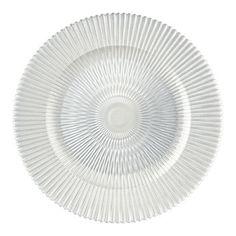 "BBJ Linen Marbella 13"" Glass Charger Plate"